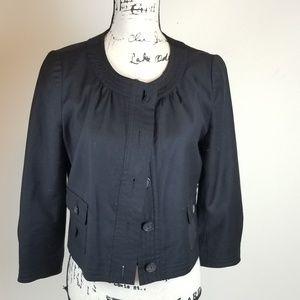J.Crew Ladies Black Crop Blazer- Size 6